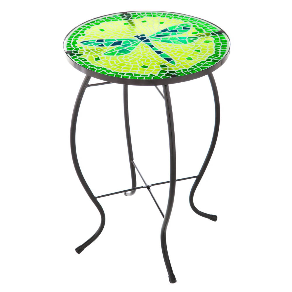 Evergreen Decadent Mosaic Glass Dragonfly Side Table at Sears.com