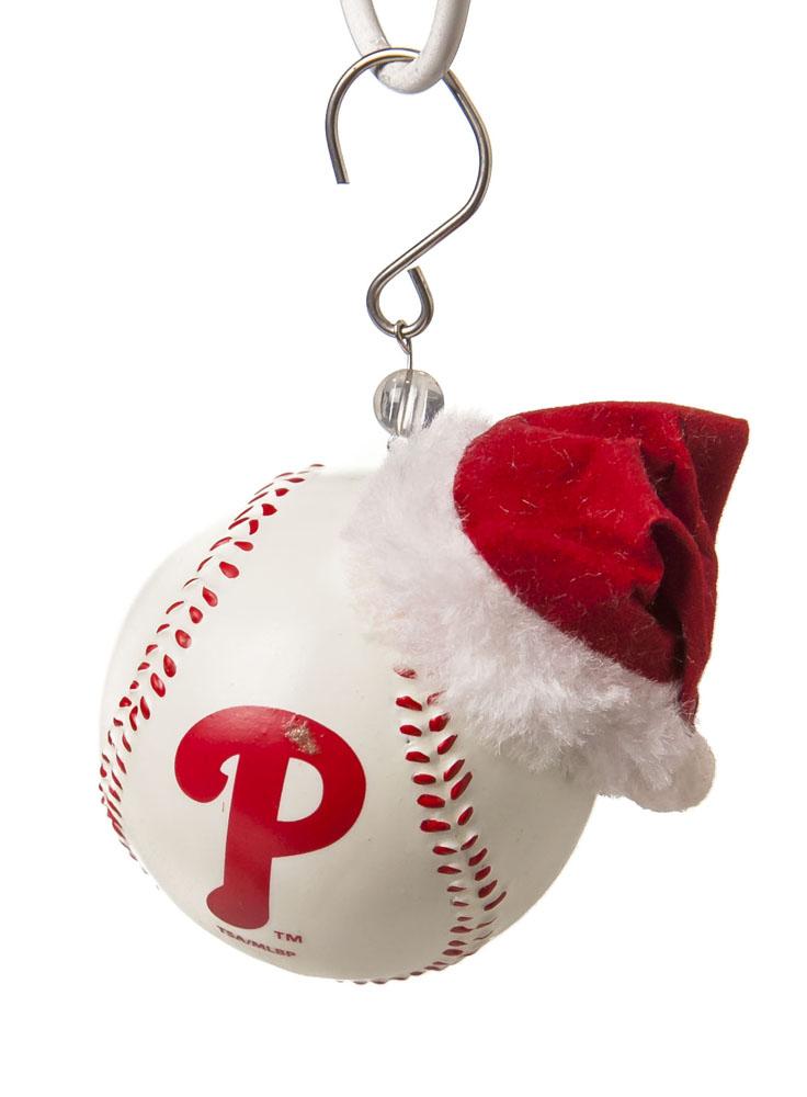Team Sports America Philadelphia Phillies Baseball Christmas Ornament