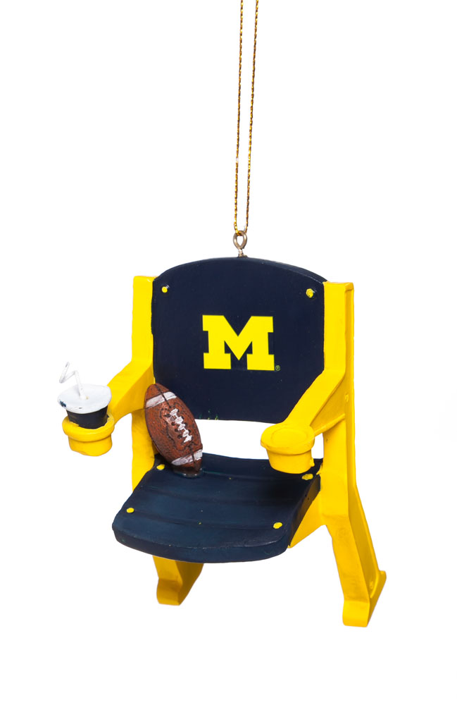 Fans With Pride University of Michigan Stadium Chair Christmas Ornament