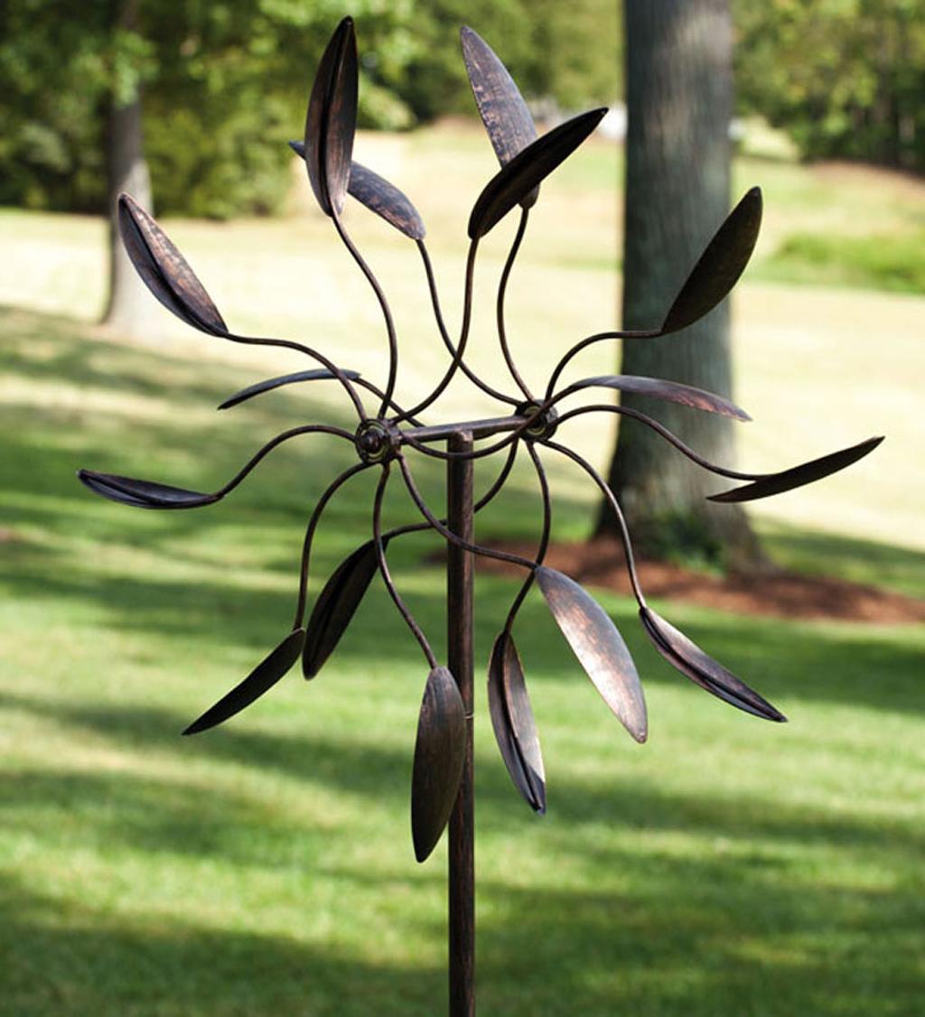 Twirler Powder Coated Metal Kinetic Garden Art