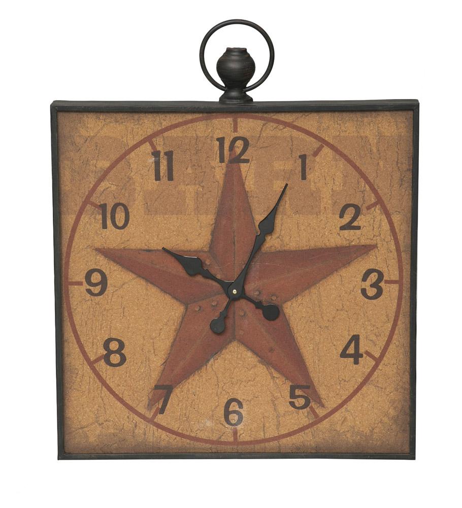 Evergreen Red Southern Star Cork Memo Board Wall Clock at Sears.com