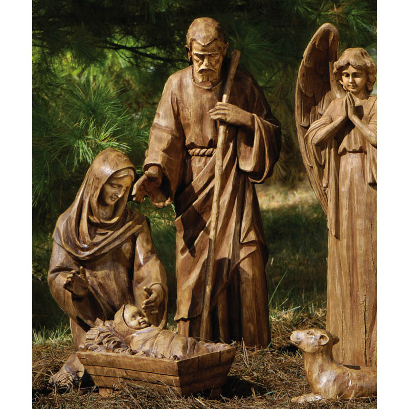 Evergreen Mary Joseph And Jesus Large Nativity Set  outdoor decor at Sears.com