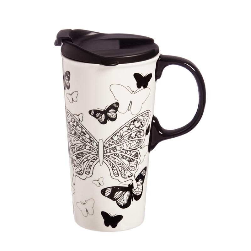 Black Ink Just Add Color Travel Mug