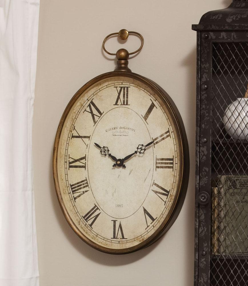 """Vintage Oval Clock 20"""""""