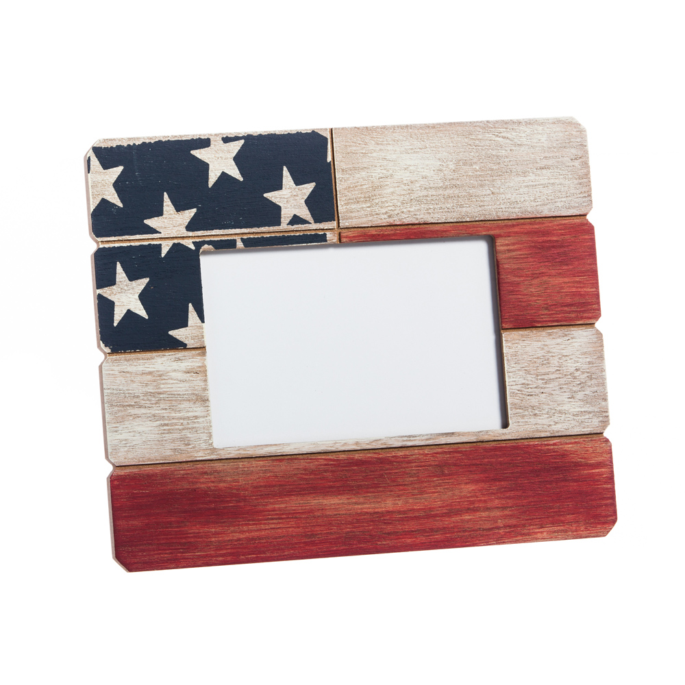Cypress Home American Flag Wooden 4x6 Picture Frame 808412513169 | eBay