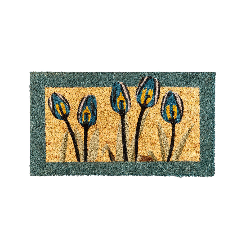 Evergreen Flag tulips, coir mat